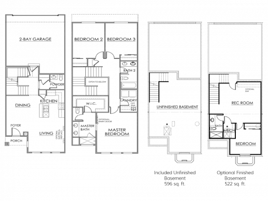 The Irondale Floor Plan Drawing