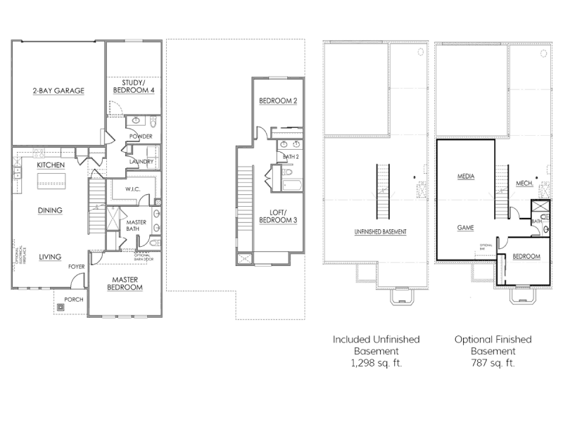 The Derby Floor Plan Drawing