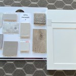 Colors that have been chosen for this house to include: cabinets, LVP, carpet, tile, counters, and vinyl flooring.